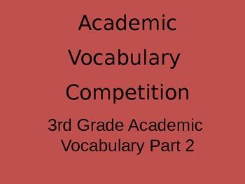 3rd Grade Academic Vocabulary Game - Part 2