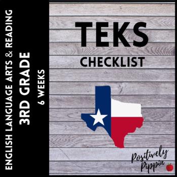 ELAR TEKS 3rd Grade Adapted 2017 for 2019-2020 (6 Weeks Checks)