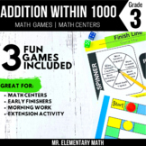 Addition Games and Centers 3rd Grade