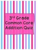 3rd Grade Addition Quiz