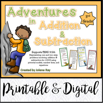 Adventures in 3rd Grade Addition & Subtraction: TEKS 3.5A