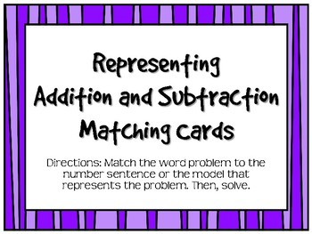 Match Word Problem To Number Sentences Worksheets & Teaching