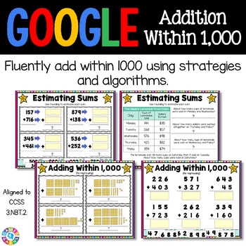 3rd Grade Addition Within 1,000 Digital Practice {3.NBT.2} - Google Classroom