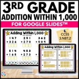 3rd Grade Addition Within 1,000 Digital Practice {3.NBT.2}