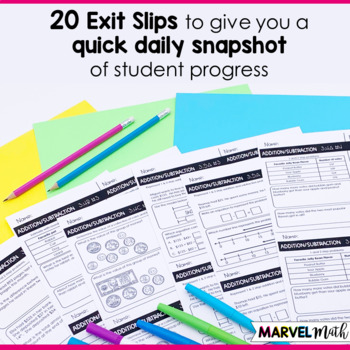 3rd Grade Addition and Subtraction TEKS Exit Slips * Exit Tickets