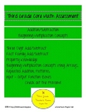 3rd Grade Addition/Subtraction/Beginning Multiplication Assessment
