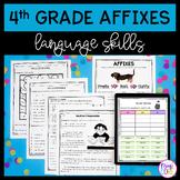 4th Grade Affixes Unit & Task Cards - PDF & Google Slides