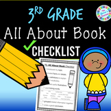 3rd Grade All-About Book Writing Checklist (standards-aligned) - PDF and digital