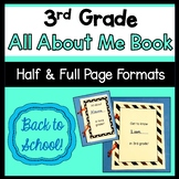 3rd Grade All About Me Book (Back to School)
