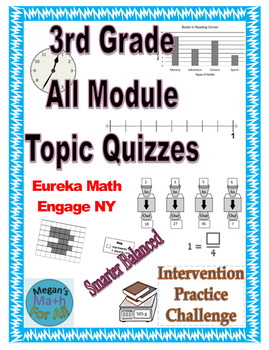 3rd Grade All Module Topic Quizzes - Engage NY/Eureka Math- SBAC - Editable