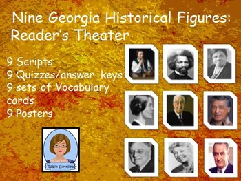 3rd Grade All Nine Historical Figures for GPS:  Reader'sTheater review for CRCT