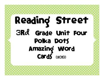 Reading Street Common Core 2013-Amazing Words-Grade 3-Unit Four