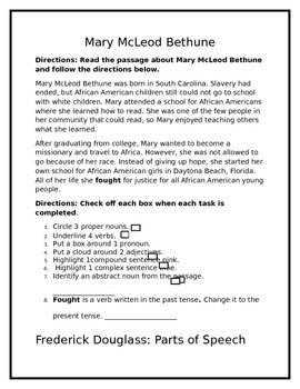 Grade 3 Common Core  American Heroes and ELA