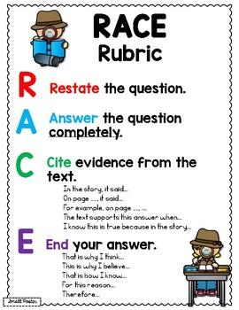 3rd Grade Anchor Charts & Matching Interactive Notebook Pages, RL & RI Standards