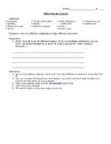 Core Knowledge - 3rd Grade - Animal Classification Unit - Bird Beaks
