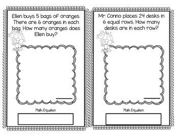 3rd Grade April Math Word Problem Journal