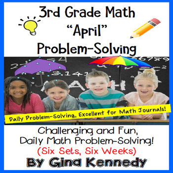 3rd Grade April Problem Solving: Daily Multi-Step (Two-Step) Math Problems