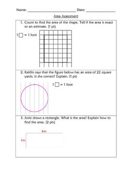 3rd Grade Area Assessment