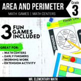 Area and Perimeter Games and Centers 3rd Grade