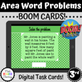 3rd Grade Area Word Problems Task Cards | CCSS 3.MD.C7b |