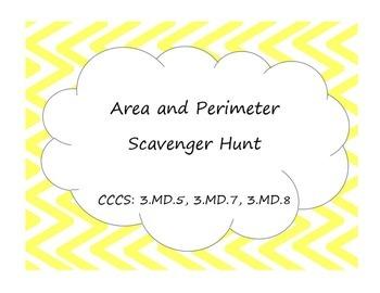 3rd Grade Area and Perimeter Scavenger Hunt