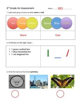 3rd Grade Art Assessment