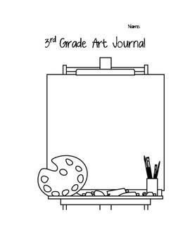 3rd Grade Art Journal with NCCAS Standards