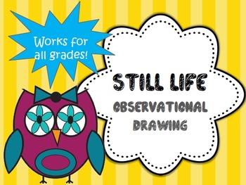3rd Grade Art Project-Observational Drawing-Still Life