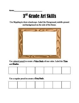 3rd Grade Art Skills Test