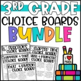 3rd Grade Math Menus and Choice Boards - Enrichment Activities