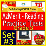 3rd Grade AzMerit Test Prep Practice Tests for Arizona - Set #3