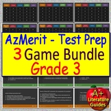 3rd Grade AzMerit Test Prep Reading Review Game Collection for Arizona AzM2