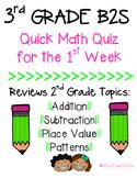 3rd Grade B2S Math Review - Quick Quiz