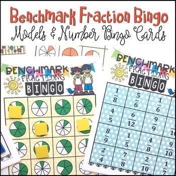 3rd Grade BENCHMARK FRACTION BINGO Common Core Math Center