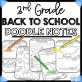 3rd Grade Back To School Doodle Booklet