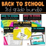 3rd Grade Back to School BUNDLE - Distance Learning