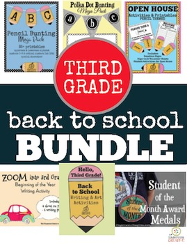 3rd Grade Back to School Bundle