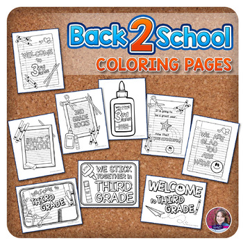 3rd Grade Back to School Coloring Pages