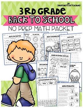 3rd Grade Back to School Math No Prep Packet