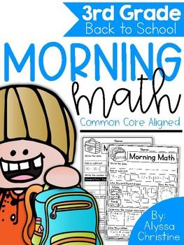 3rd Grade Back to School Morning Work