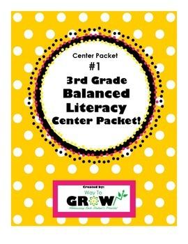 3rd Grade Balanced Literacy Center Packet 1