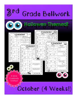 3rd Grade Bellwork (October/Halloween Themed)