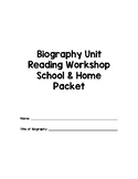 3rd Grade Biography Notebook for Reading Workshop
