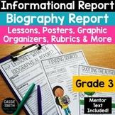 3rd Grade Biography Report Writing Unit {W.3.2.C, W.3.2.D}