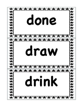 Word Wall Set: 3rd Grade Black and White Stars