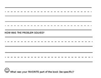3rd Grade Book Report Form