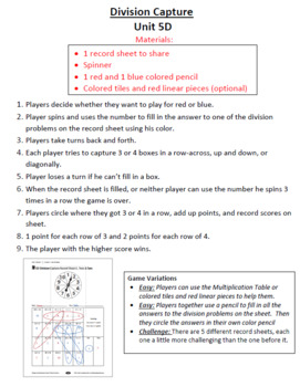 3rd Grade Bridges Math Work Places Easier Directions BUNDLED Units 1-8
