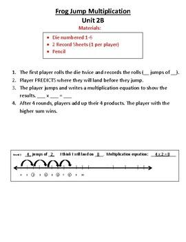 3rd Grade Bridges Math Work Places Easier Directions Unit 2
