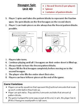 3rd Grade Bridges Math Work Places Easier Directions Unit 4