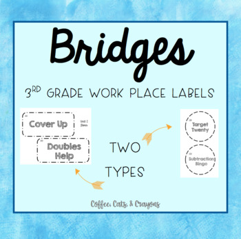 BRIDGES- 3rd Grade- Work Place Labels